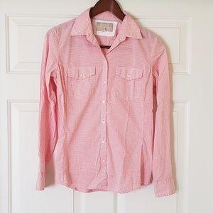 Banana Republic checkered button-down shirt SZ XS